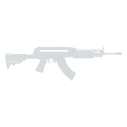Gestreifte Silhouette der Maschinenpistolenladegerät-Kolbenlaufwaffe