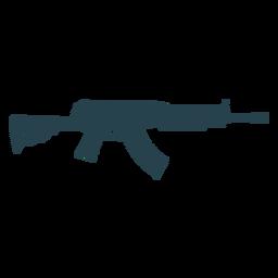 Submachine gun cargador butt barril arma silueta a rayas