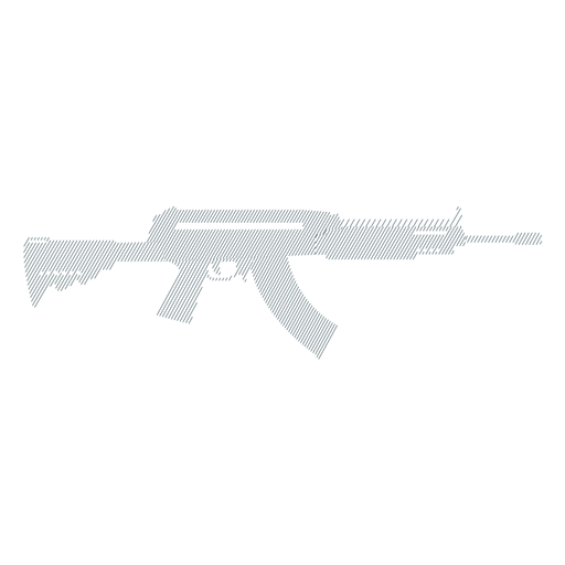 Carregador de metralhadora arma barril bunda silhueta listrada Transparent PNG