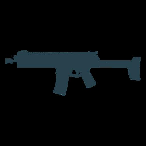 Submachine gun cargador butt arma barril silueta Transparent PNG