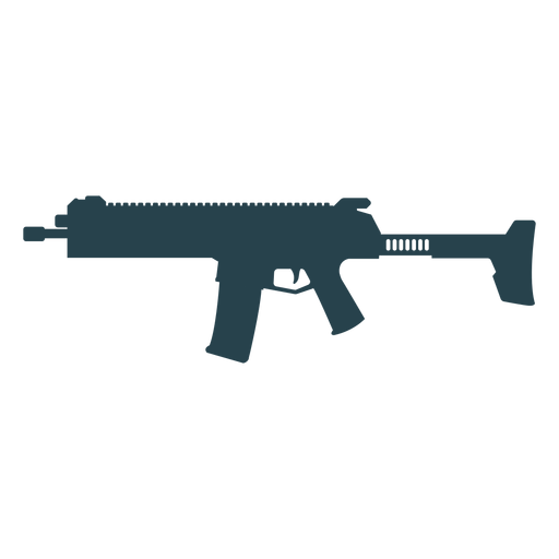 Submachine gun charger butt weapon barrel silhouette Transparent PNG