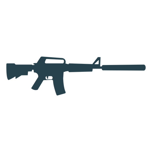 Submachine gun charger butt weapon barrel suppressor silhouette Transparent PNG
