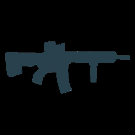 Submachine gun charger weapon barrel butt silhouette Transparent PNG