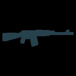 Submachine gun arma culata cargador barril a rayas silueta