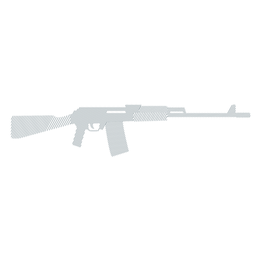 Submachine gun weapon butt charger barrel striped silhouette Transparent PNG