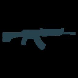Submachine gun arma cargador barril a rayas silueta
