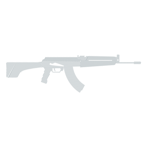 Submachine gun weapon charger barrel butt striped silhouette Transparent PNG