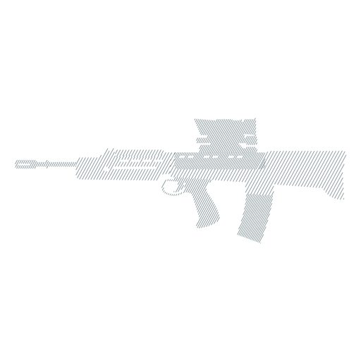 Submachine gun weapon charger butt barrel striped silhouette Transparent PNG