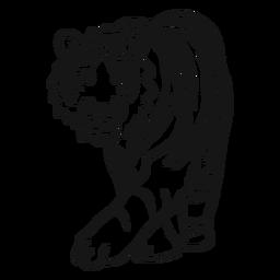 Doodle de tarja de orelha de focinho de tigre