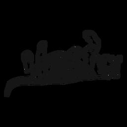 Tigre hocico raya acostado cola oreja doodle