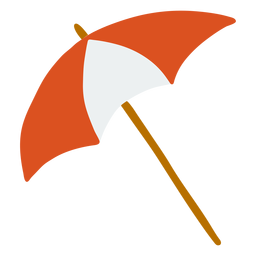 Paraguas mango raya plana
