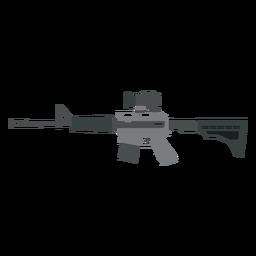 Carregador de metralhadora de barril de arma butt plana