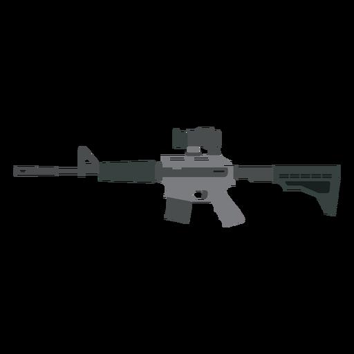 Weapon barrel submachine gun charger butt flat Transparent PNG