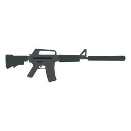 Cargador de ametralladora de cañón de culata de arma plano