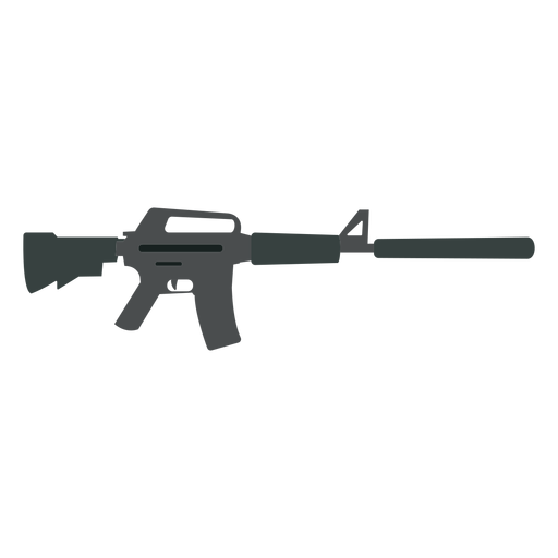 Weapon butt barrel submachine gun charger flat Transparent PNG