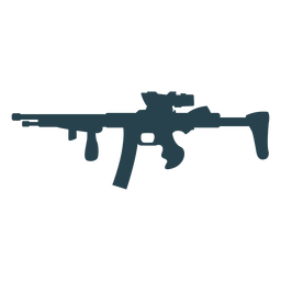 Weapon butt submachine gun charger barrel silhouette
