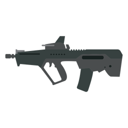 Cargador de arma culata barril ametralladora plana