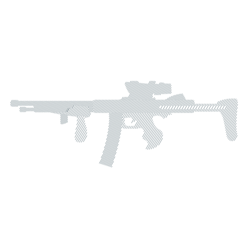 Weapon submachine gun barrel butt charger striped silhouette Transparent PNG
