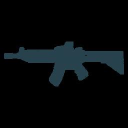 Arma ametralladora barril cargador trasero a rayas silueta