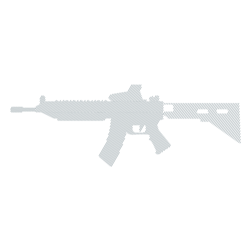 Weapon submachine gun barrel charger butt striped silhouette Transparent PNG