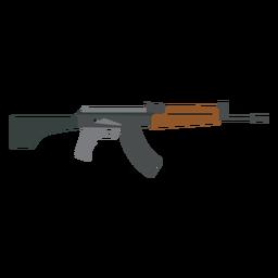 Arma ametralladora barril plano