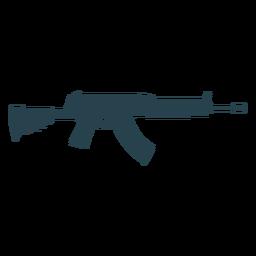 Silhueta de barril de carregador de metralhadora arma submetralhadora