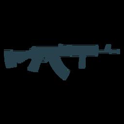 Arma ametralladora cargador culata barril silueta