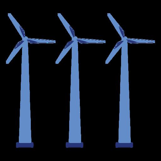 Wind turbine generator wind farm three flat Transparent PNG