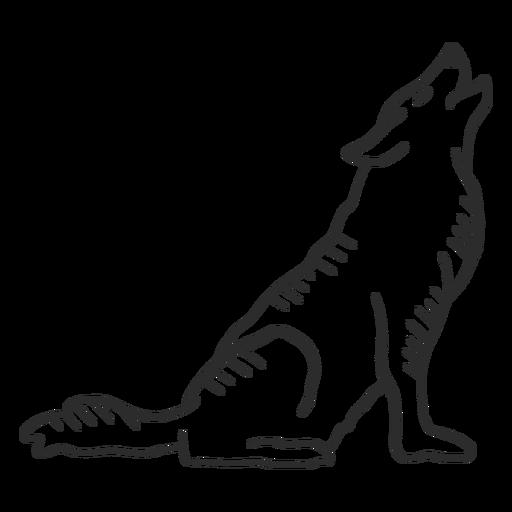 Lobo aullido oreja depredador cola doodle Transparent PNG