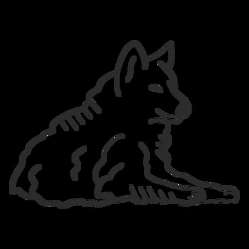 Lobo aullido depredador oído mentira doodle Transparent PNG