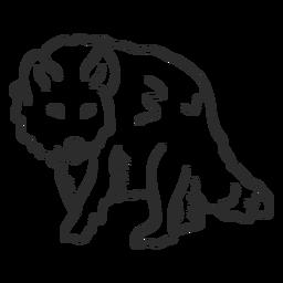 Doodle de oreja de cola de depredador aullido de lobo
