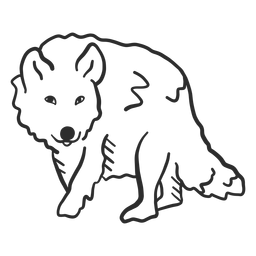 Doodle de orelha de cauda predador de uivo de lobo