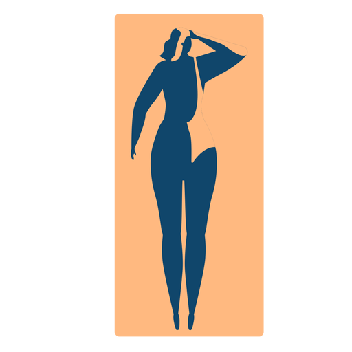 Woman rug mat lying detailed silhouette Transparent PNG