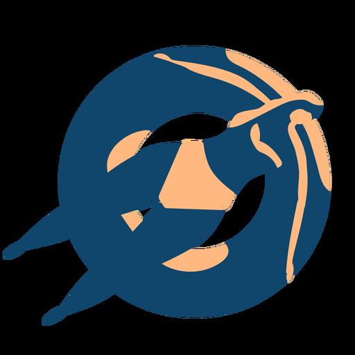 Ausführliches Schattenbild des Frauenschwimmenschwimmenkreis-Schwimmrings Transparent PNG