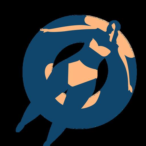 Ausführliches Schattenbild des Frauenschwimmschwimmring-Schwimmkreises Transparent PNG