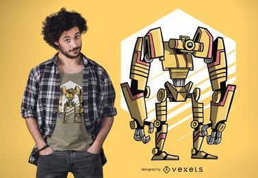 Diseño de camiseta Robo One