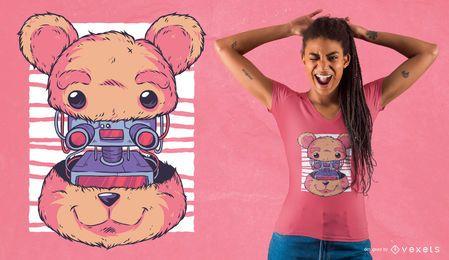 Robot teddy bear design de t-shirt