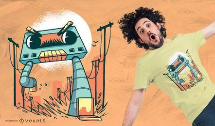 Cassette Robot Monster T-shirt Design