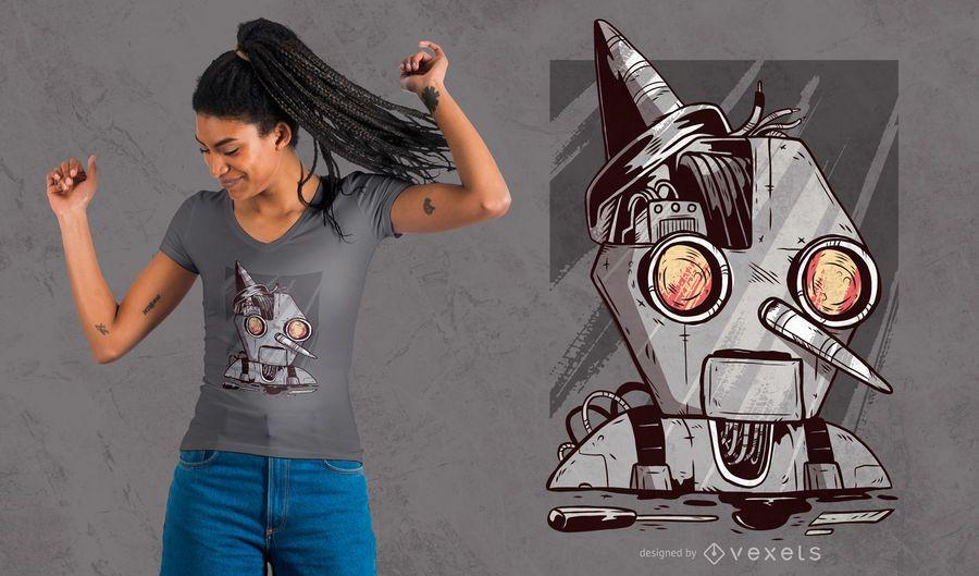 Projeto do t-shirt do fantoche do robô