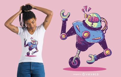 Projeto do t-shirt do robô de Monowheel