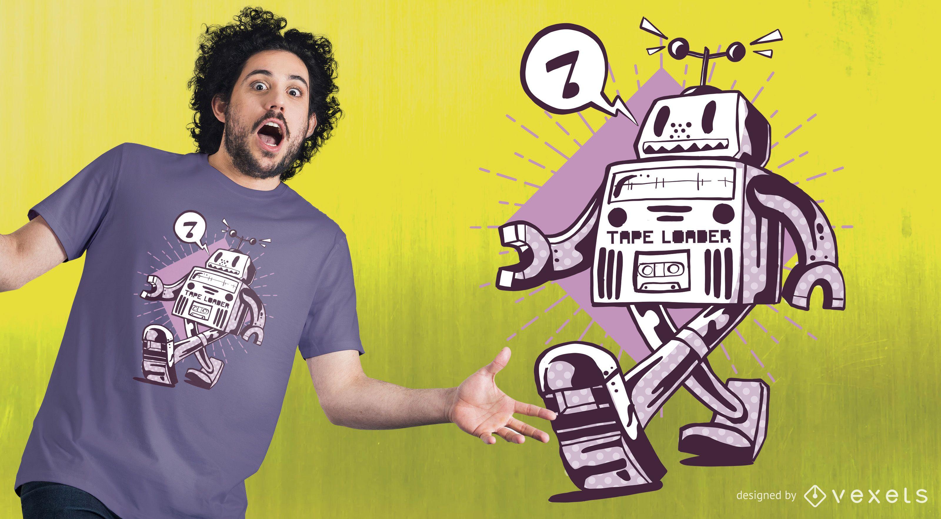 Happy Robot T-shirt Design