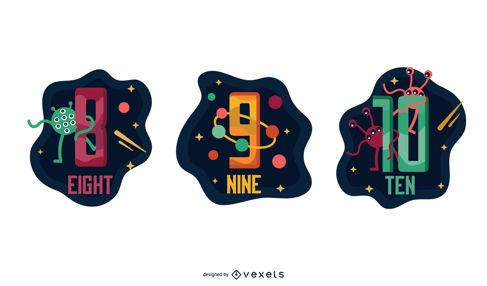 Space Garland Letter Number Pack 8 9 10