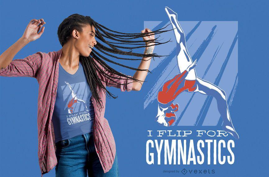 Flip for Gymnastics T-shirt Design