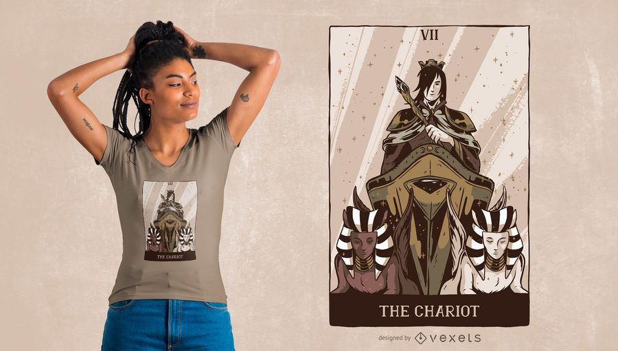 El diseño de camiseta Chariot Tarot