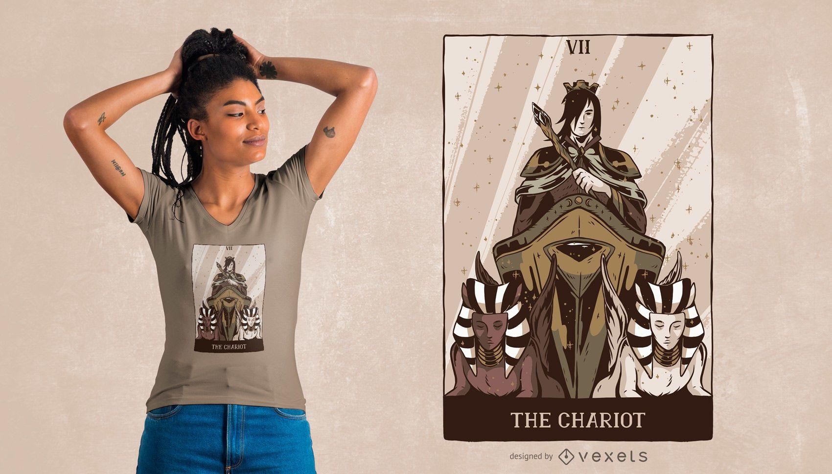 Design de camisetas The Chariot Tarot