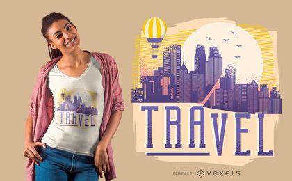 Design de camisetas de viagem