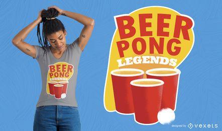 Projeto do t-shirt da cerveja Pong