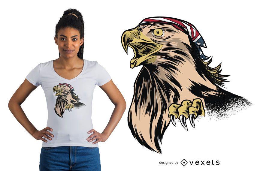 Diseño divertido de la camiseta de Eagle
