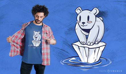 Eisbär-Cartoon-T-Shirt Entwurf