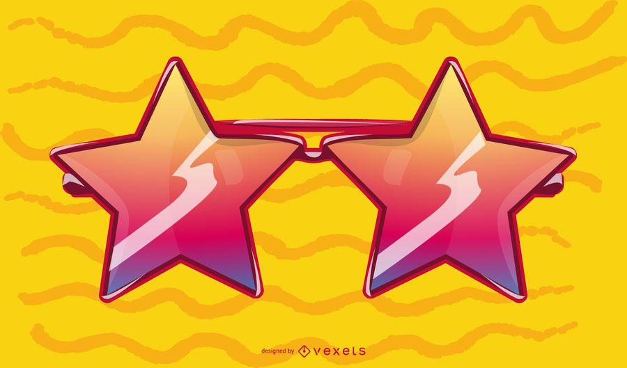 Star Shaped Glasses Illustration